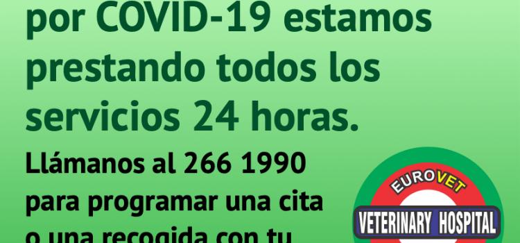 Seguimos prestando nuestros servicios las 24 horas durante la emergencia por Covid-19