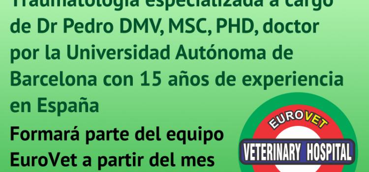 Nuevo servicio de Cirugía Ortopédica y Traumatología especializada a cargo del Dr. Pedro